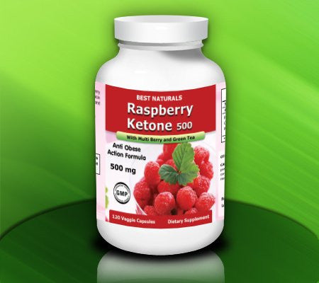 Raspberry Ketone with Green Tea, 500mg, 240 Veggie Capsule