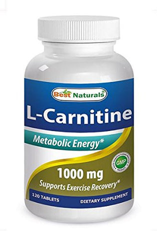 L-Carnitine Double Potency Tablets, 1000 mg, 120 Count
