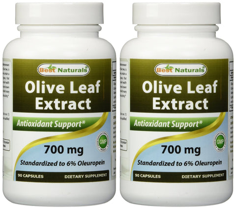 Olive Leaf Extract 700mg Capsules (Pack of 2)