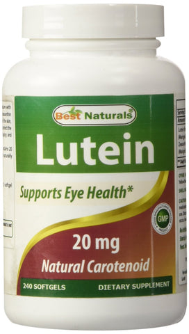 Lutein, 20 mg with Zeaxanthin, 240 Softgels