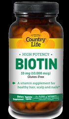 HIGH POTENCY BIOTIN 10 MG 120 VEGETARIAN CAPSULES