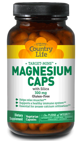 MAGNESIUM WITH SILICA 300 MG 120 VEGETARIAN CAPSULES
