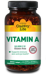 NATURAL VITAMIN A 10,000 I.U. UNITS 100 SOFTGELS
