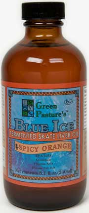 BLUE ICE Fermented Skate Liver Oil - Spicy Orange - Spicy Orange (liquid)