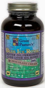 BLUE ICE Royal Butter Oil/Fermented Cod Liver Oil Blend - Chocolate Cream - Chocolate Cream (gel)