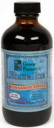 BLUE ICE Royal Butter Oil/Fermented Cod Liver Oil Blend - Cinnamon Tingle - Cinnamon Tingle (gel)