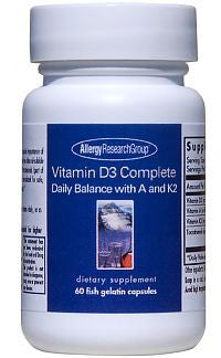 Vitamin D3 Complete Daily Balance with A and K2 - 60 Fish Gelatin Caps