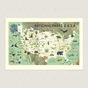 National Parks of the USA Map