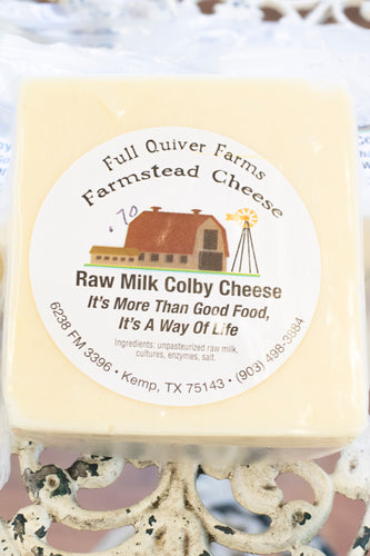 Raw Milk Colby