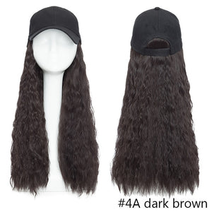 Baseball Cap Hair Extension (Wavy)