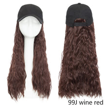 Load image into Gallery viewer, Baseball Cap Hair Extension (Wavy)