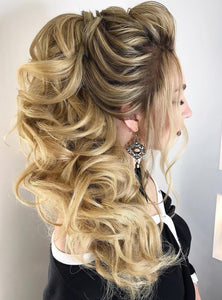 Messy Long Hair Bun Wrap