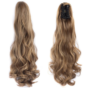 Wavy Ponytail Claw Clip Hairpiece 20 inch