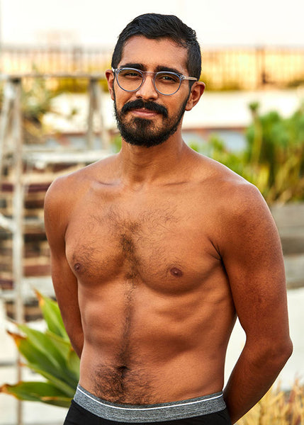 SHIRTLESS-MODEL-CHRIS-LOPEZ-WITH-32 INCH-WAIST-IN-UNDERWEAR