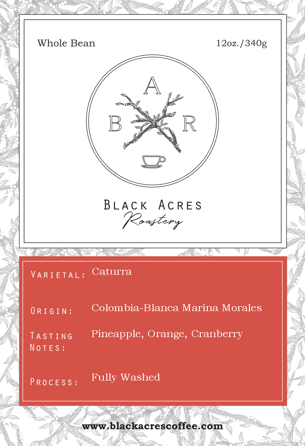 Colombia Nariño Excelso- Blanca Marina Morales LIMITED RELEASE