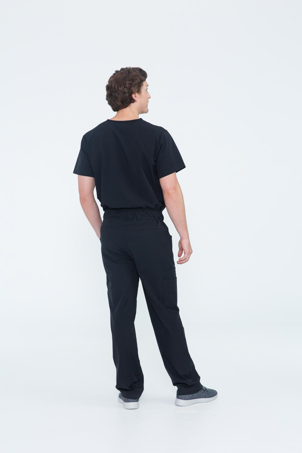 Kalea - Mens Gallant Scrub Pants - Black