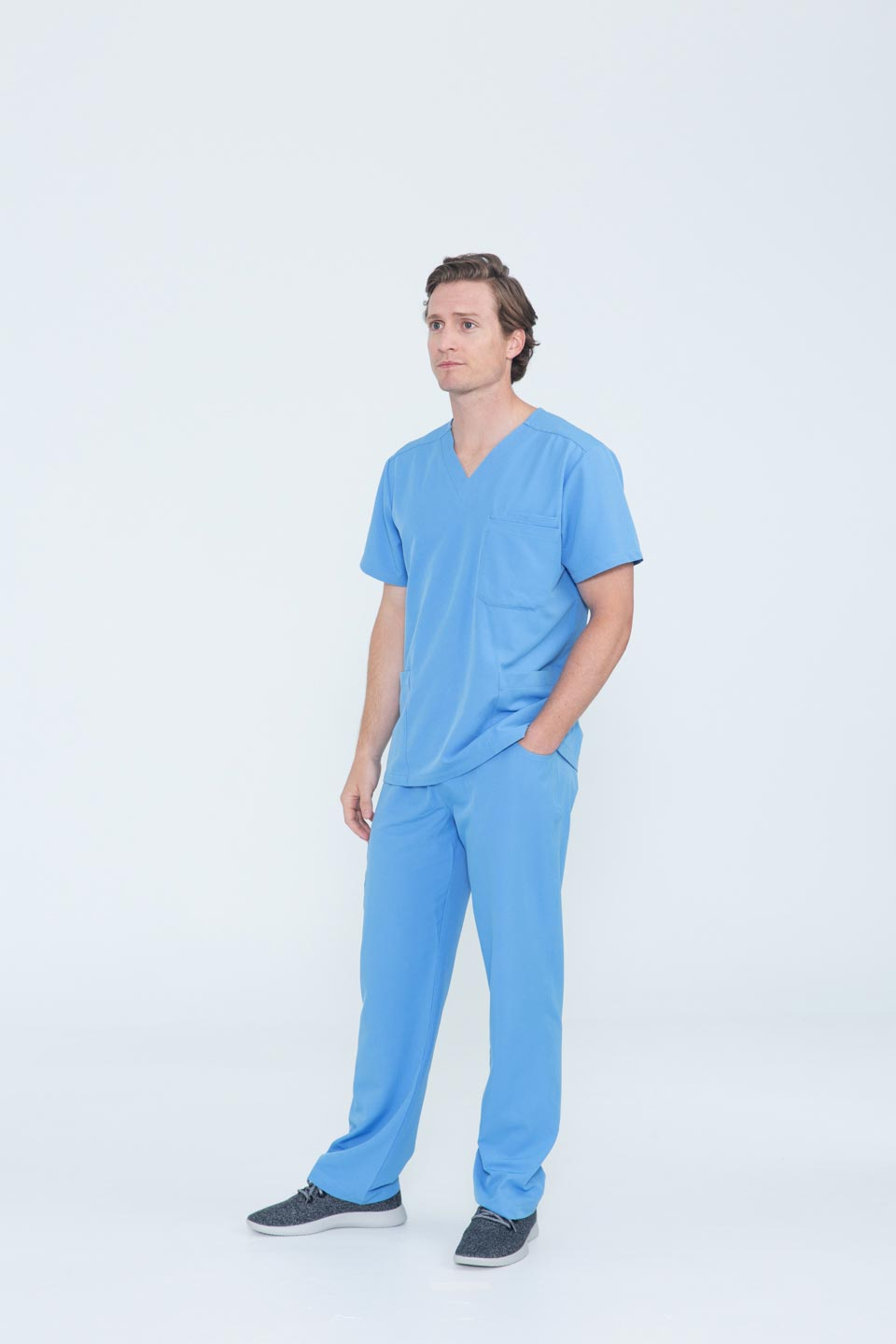 Kalea - Mens Gallant Scrub Pants - Light Blue