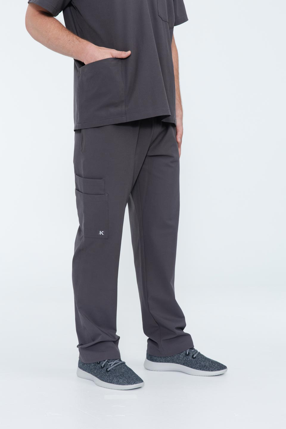 Kalea - Mens Gallant Scrub Pants - Gray