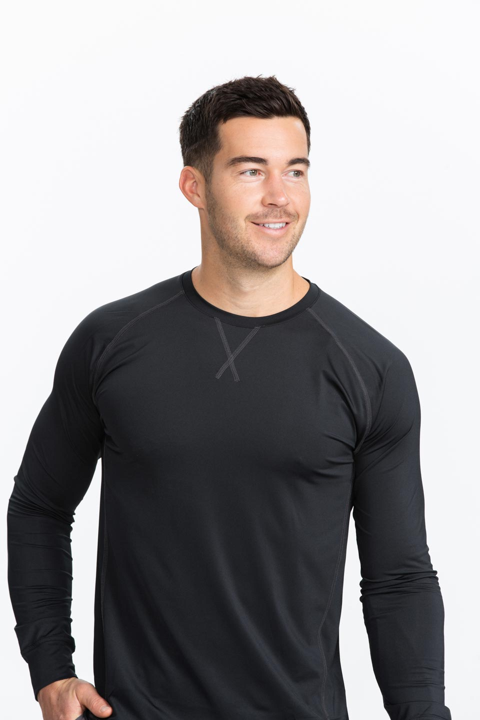 Kalea - Mens Long Sleeve Performance Under Shirt - Black