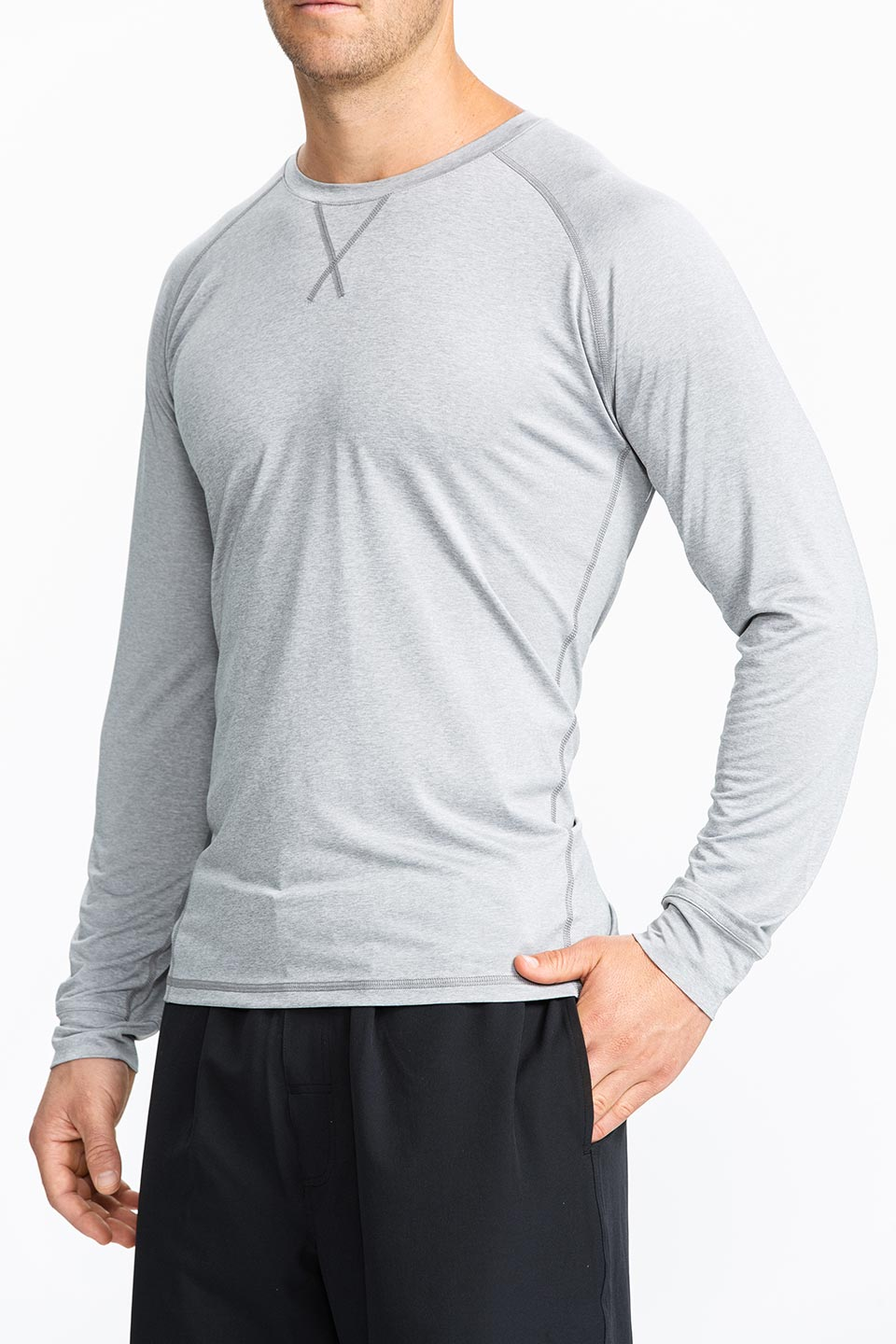 Kalea - Mens Long Sleeve Performance Under Shirt - Gray