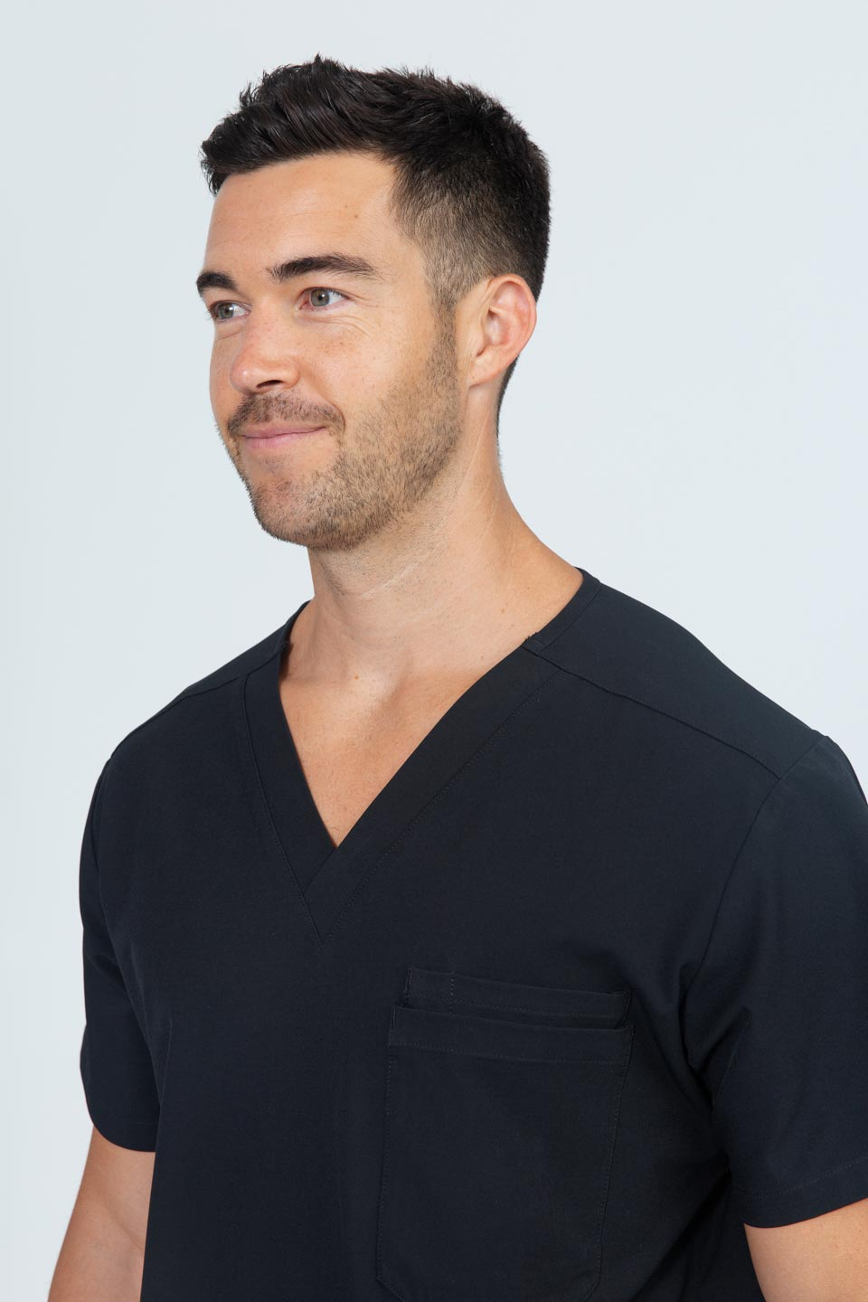 Kalea - Mens Rhapsody Scrub Top - Black