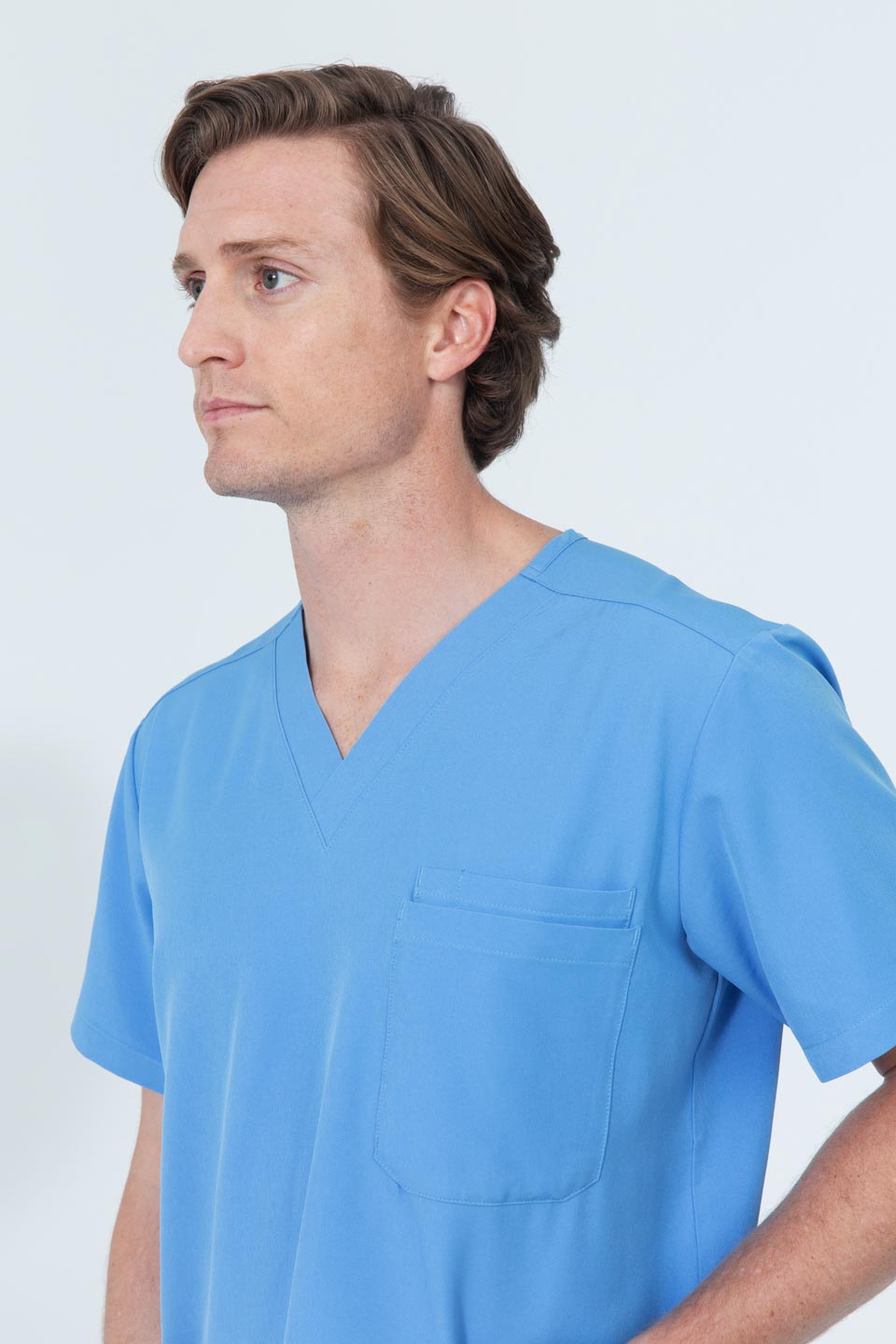 Kalea - Mens Rhapsody Scrub Top - Light Blue