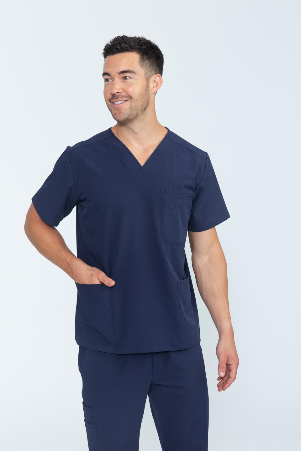 Kalea - Mens Rhapsody Scrub Top - Navy