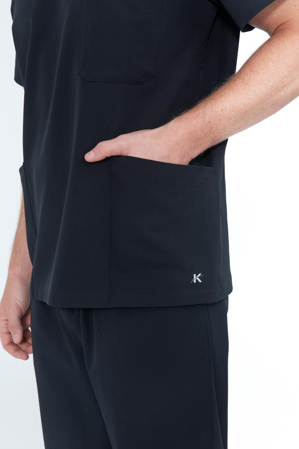 Kalea - Mens Utopia Scrub Top - Black