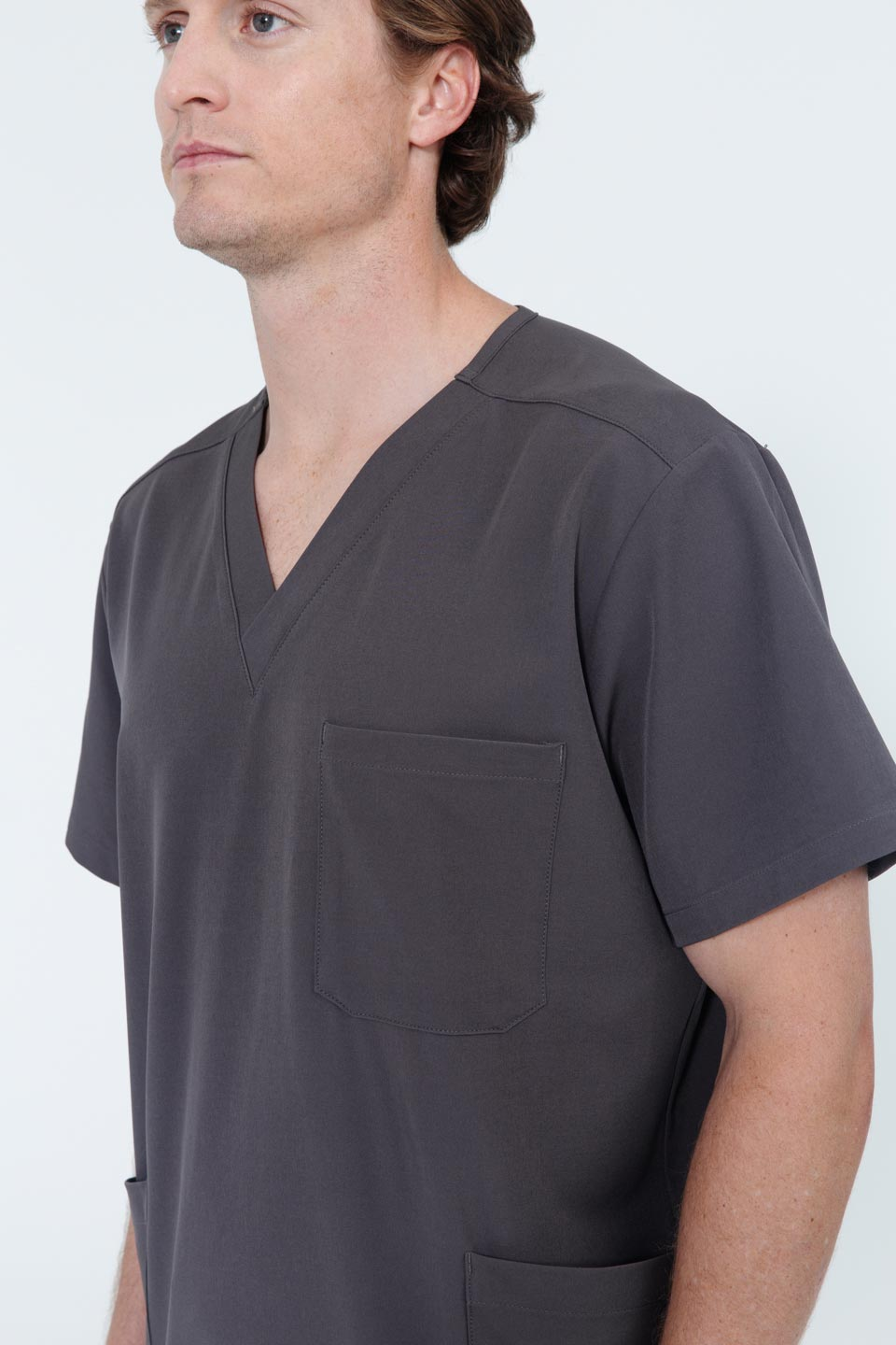 Kalea - Mens Utopia Scrub Top - Gray
