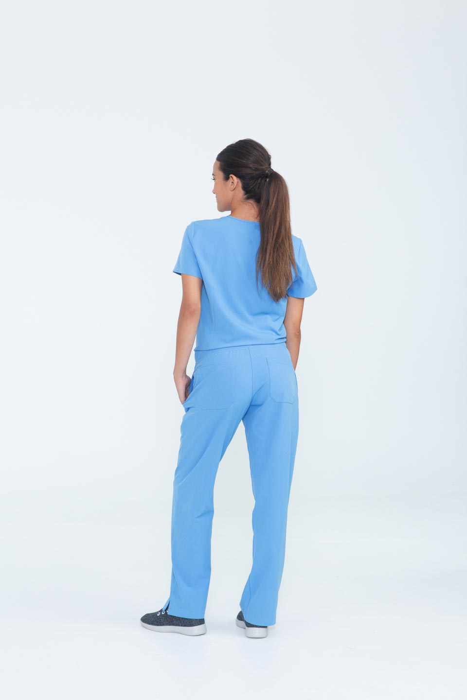 Kalea - Womens Bliss Scrub Pants - Light Blue