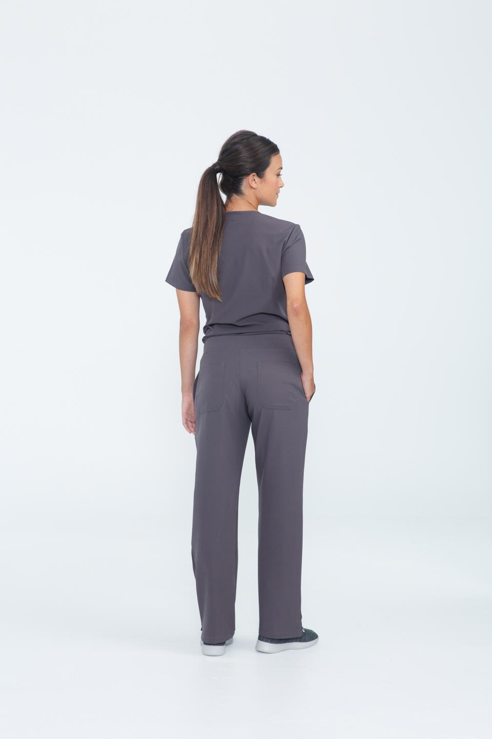 Kalea - Womens Bliss Scrub Pants - Gray