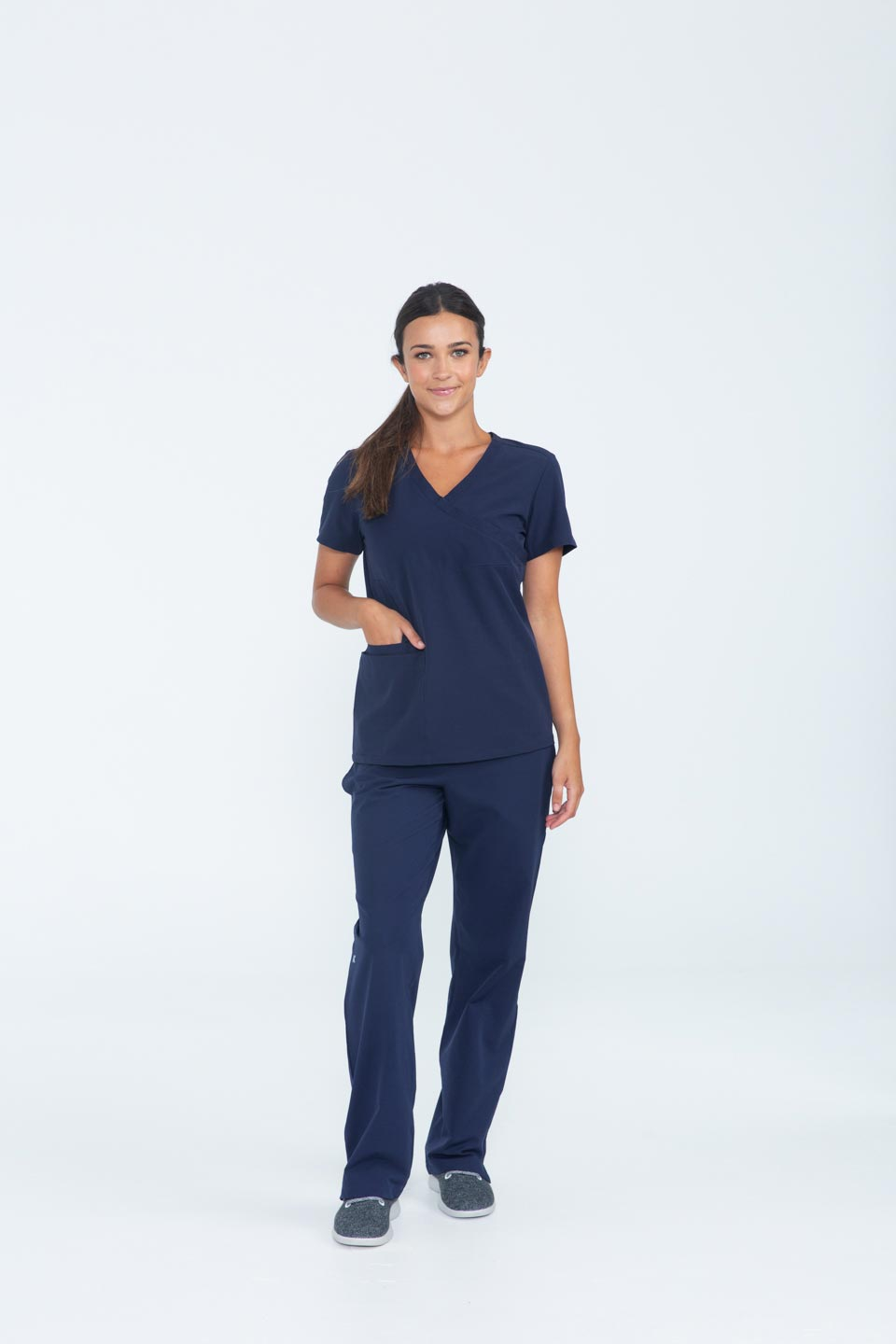 Kalea - Womens Bliss Scrub Pants - Navy