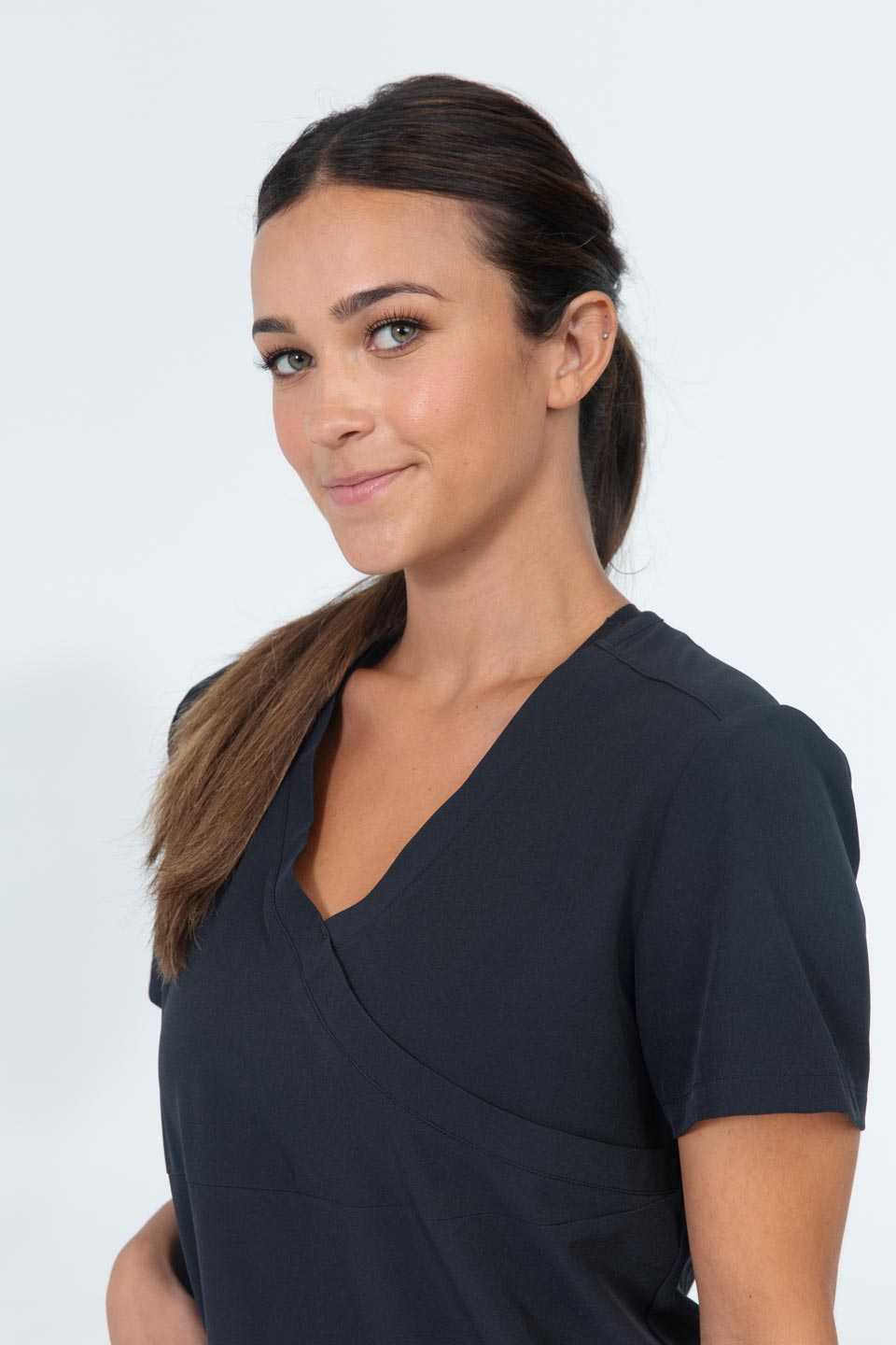 Kalea - Womens Jubilee Scrub Top - Black