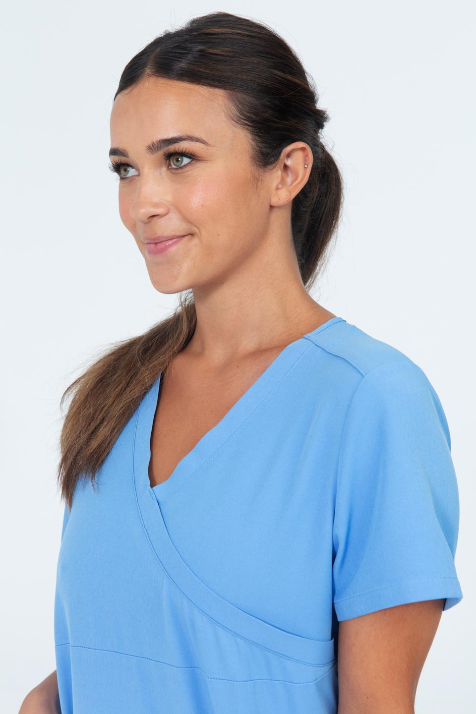 Kalea - Womens Jubilee Scrub Top - Light Blue