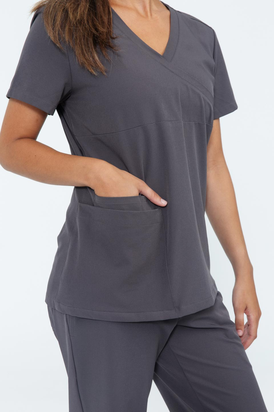 Kalea - Womens Jubilee Scrub Top - Gray