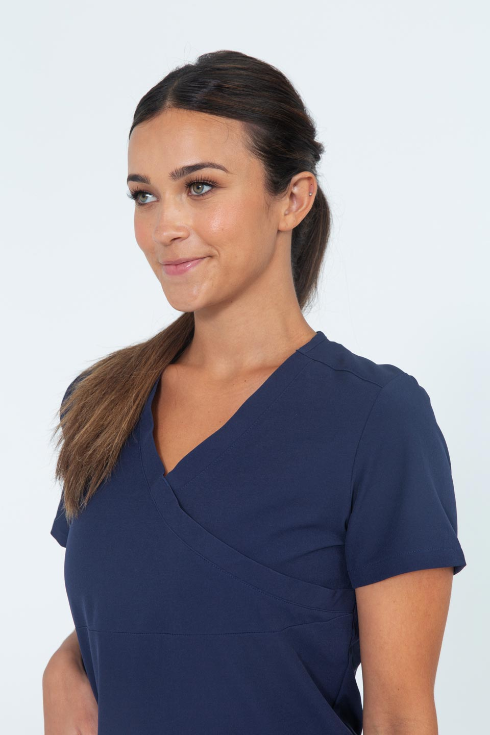 Kalea - Womens Jubilee Scrub Top - Navy