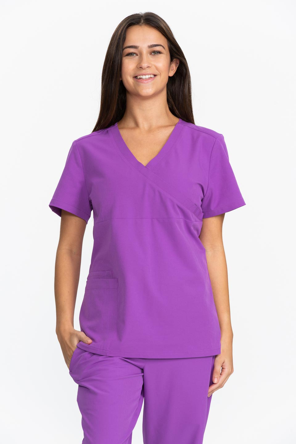 Kalea - Womens Jubilee Scrub Top - Purple