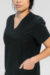 Kalea - Womens Reverie Scrub Top - Black