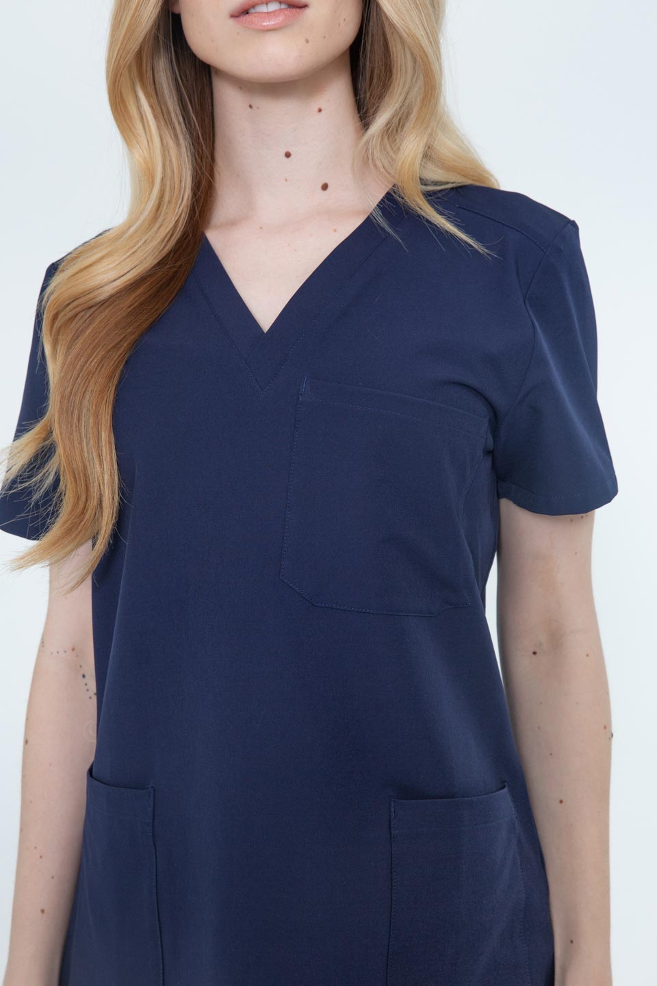 Kalea - Womens Reverie Scrub Top - Navy