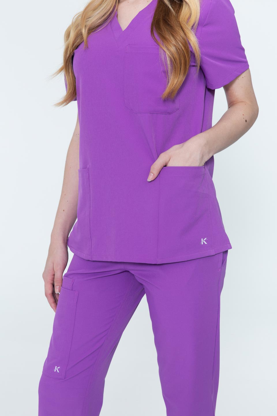 Kalea - Womens Reverie Scrub Top - Purple