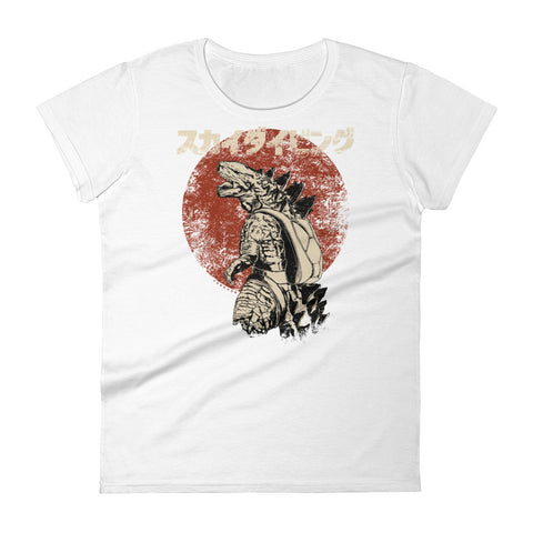 Godzilla Skydiver Black Red Ladies' T-shirt
