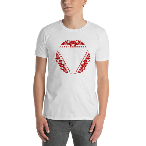 Red over white Capsule Kaleidoscope Unisex T-Shirt