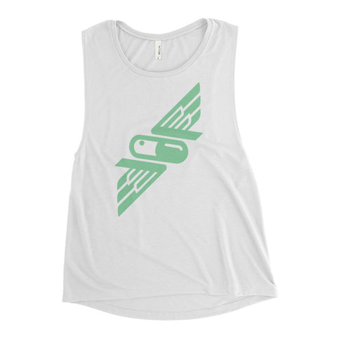 Flavors Mint White Ladies' Muscle Tank