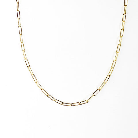 Dainty Paperclip Necklace