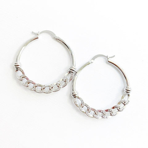 Silver Lining Hoops