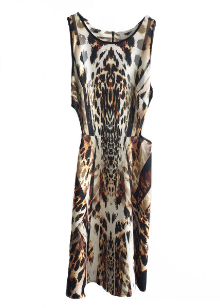 CLAUDETTE A LINE DRESS ANIMAL GEO 1XS 1S
