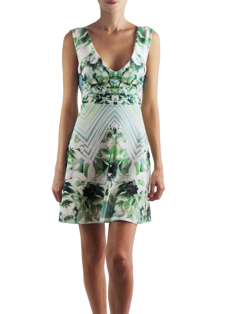 Johanne Beck A Line Printed Neoprene Dress