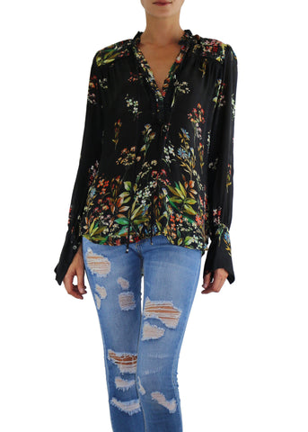 Johanne Beck Fashion Boho Chic Silk Top Printed Blouse Holiday Gift Idea