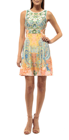 CLAUDETTE - SIDE CUT DRESS /  SORBET BLOSSOM 1S