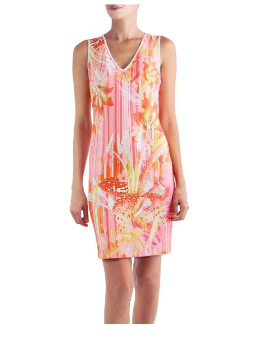Audrey Scoop Neck dress FOR STYLE ONLY MOUSE OVER FOR COLOR Sorbet Floral 1XS 2S 1M